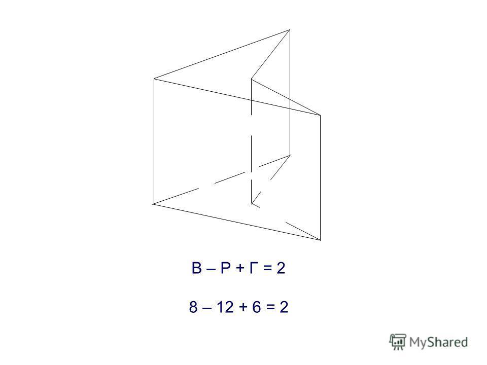 В – Р + Г = 2 8 – 12 + 6 = 2
