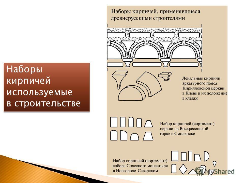 Наборы кирпичей используемые в строительстве Наборы кирпичей используемые в строительстве