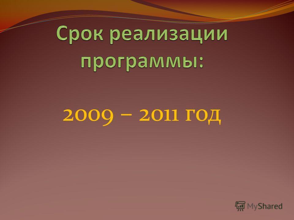 2009 – 2011 год