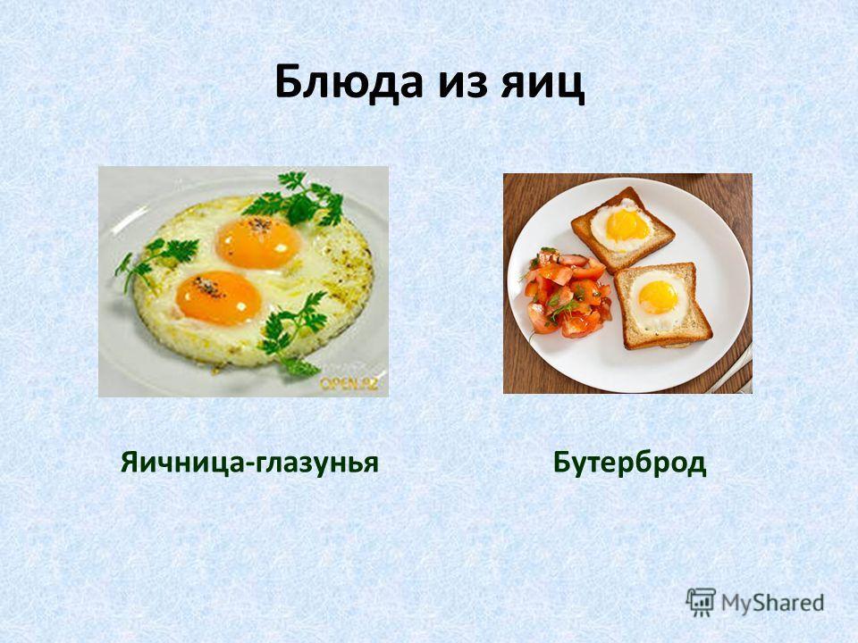 Блюда из яиц Яичница-глазуньяБутерброд