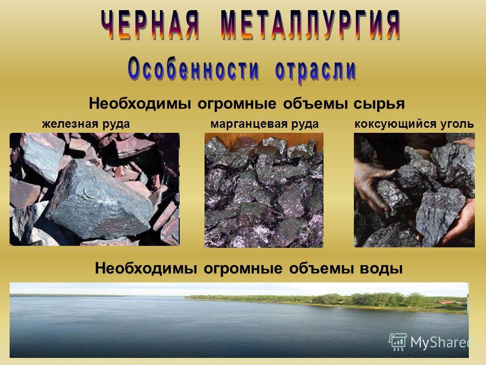 Продукция отрасли – фундамент для развития других отраслей. По производству черных металлов Россия занимает 4 место в мире. Производство чугуна и стали.