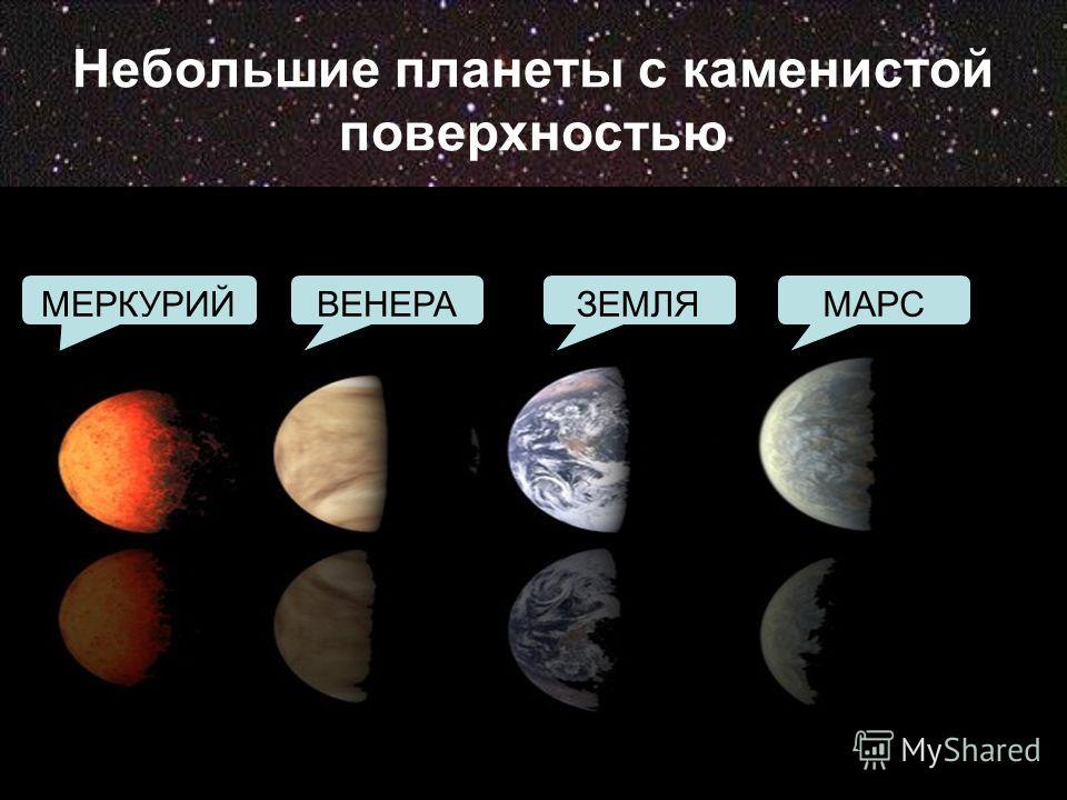 Небольшие планеты с каменистой поверхностью МАРСЗЕМЛЯВЕНЕРАМЕРКУРИЙ