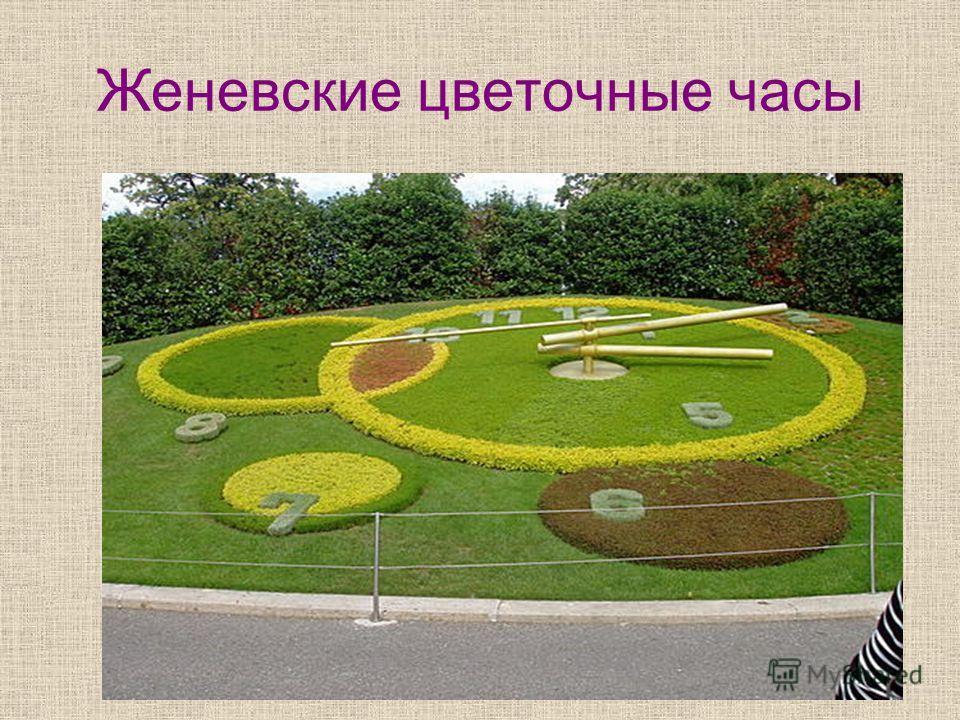 Женевские цветочные часы