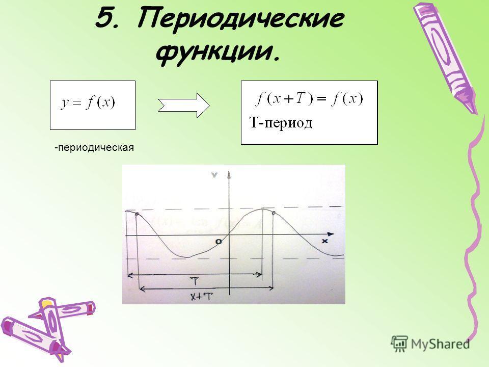 5. Периодические функции. -периодическая