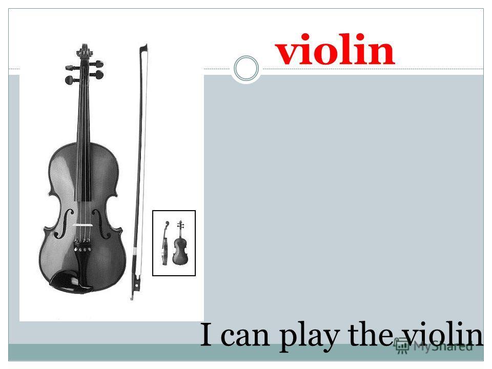 violin I can play the violin