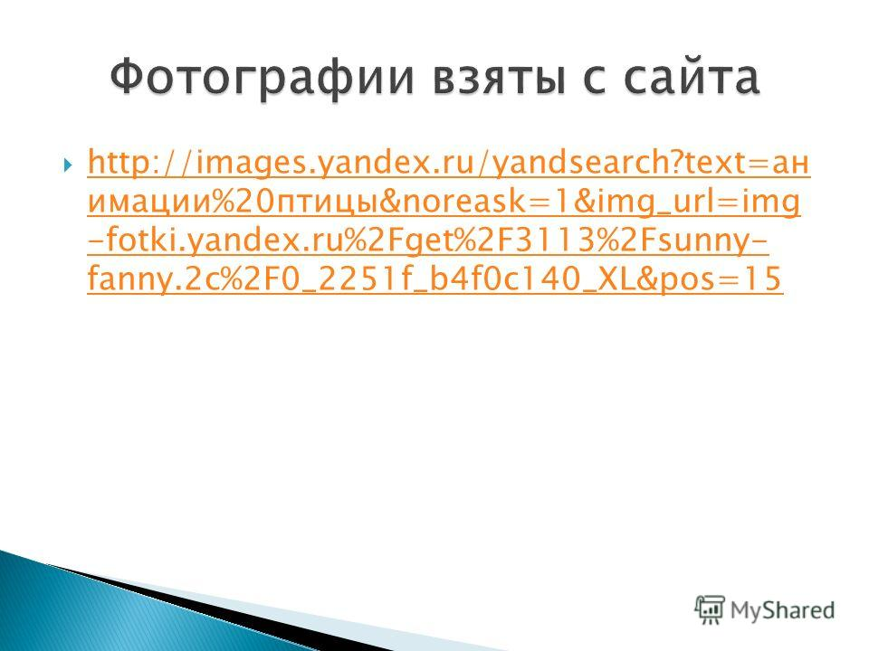 http://images.yandex.ru/yandsearch?text=ан имации%20птицы&noreask=1&img_url=img -fotki.yandex.ru%2Fget%2F3113%2Fsunny- fanny.2c%2F0_2251f_b4f0c140_XL&pos=15 http://images.yandex.ru/yandsearch?text=ан имации%20птицы&noreask=1&img_url=img -fotki.yandex