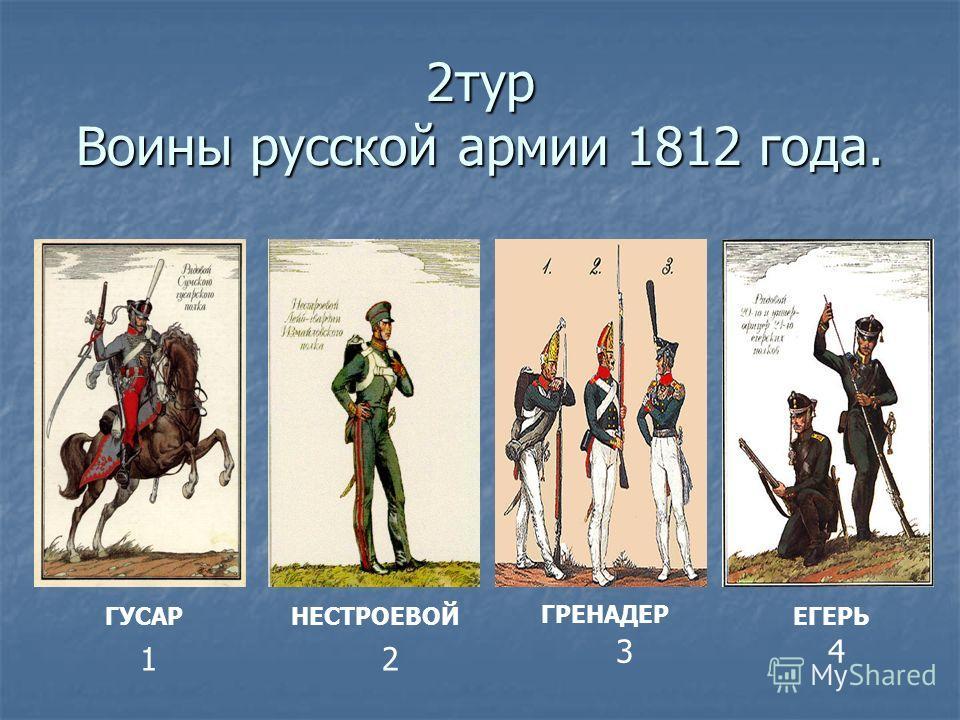 2тур Воины русской армии 1812 года. ГРЕНАДЕР ГУСАРНЕСТРОЕВОЙЕГЕРЬ 12 34
