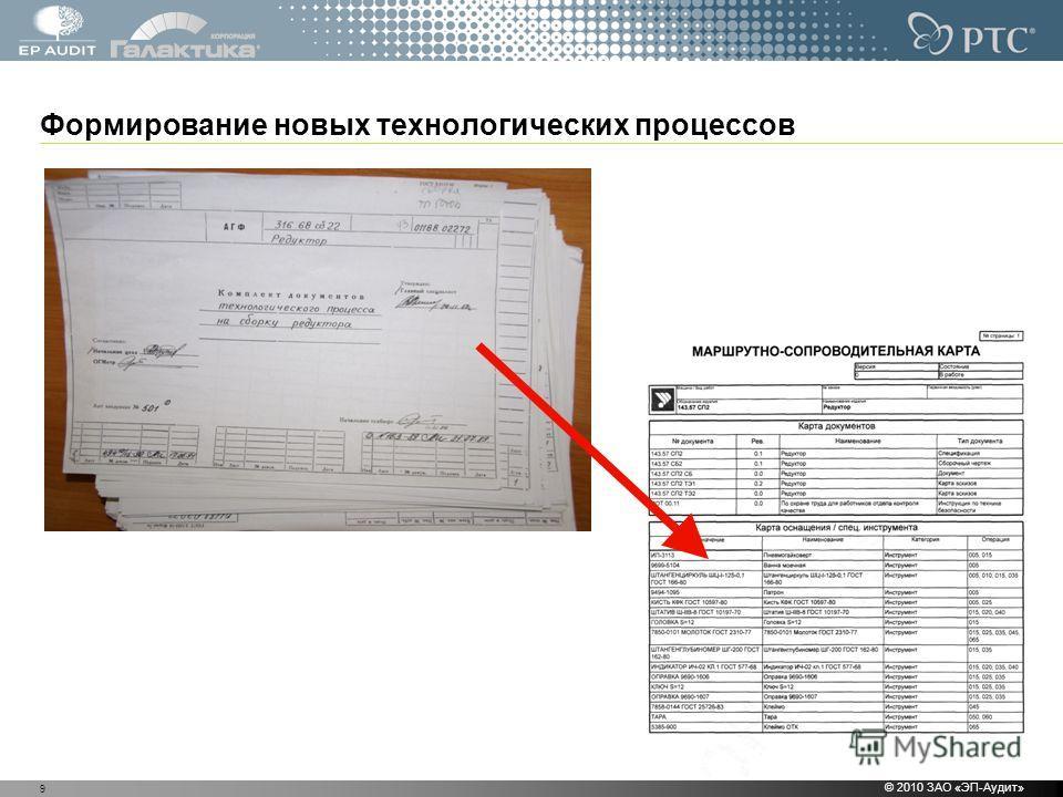 Формирование новых технологических процессов © 2010 ЗАО «ЭП-Аудит» 9
