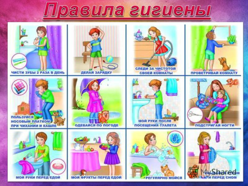 правила гигиены в картинках для дошкольников: http://from3to17.ru/page/pravila_gigieni_v_kartinkah_dlya_doshkolnikov/