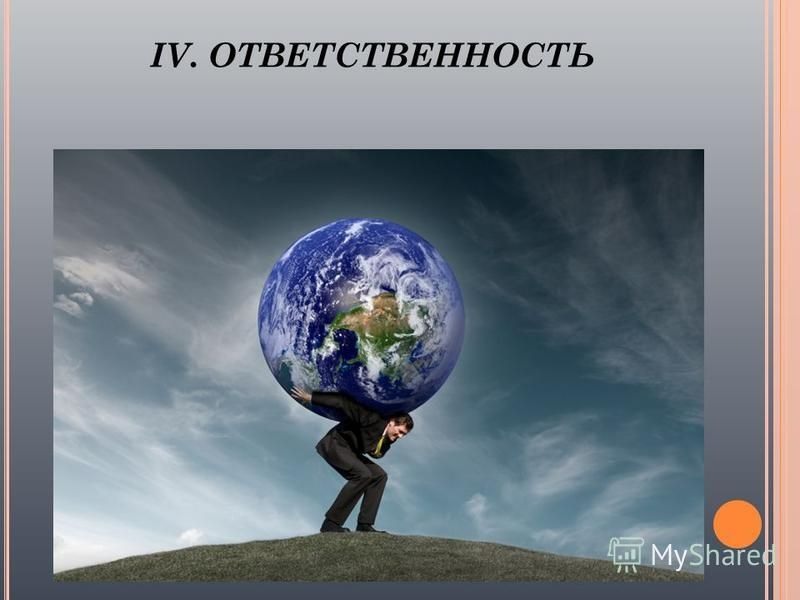 IV. ОТВЕТСТВЕННОСТЬ