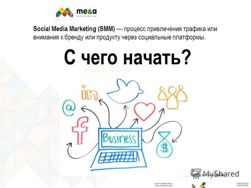 Social Media Marketing (SMM) процесс привлечения трафика или внимания к бренду или продукту через социальные платформы. С чего начать?