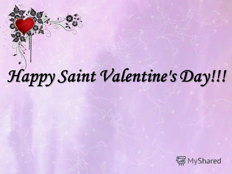 Happy Saint Valentine's Day!!!