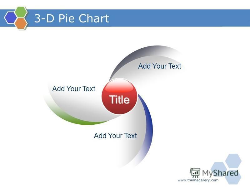 www.themegallery.com 3-D Pie Chart Title Add Your Text
