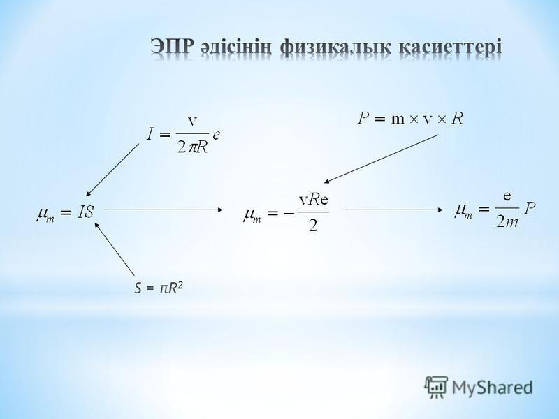 S = πR 2