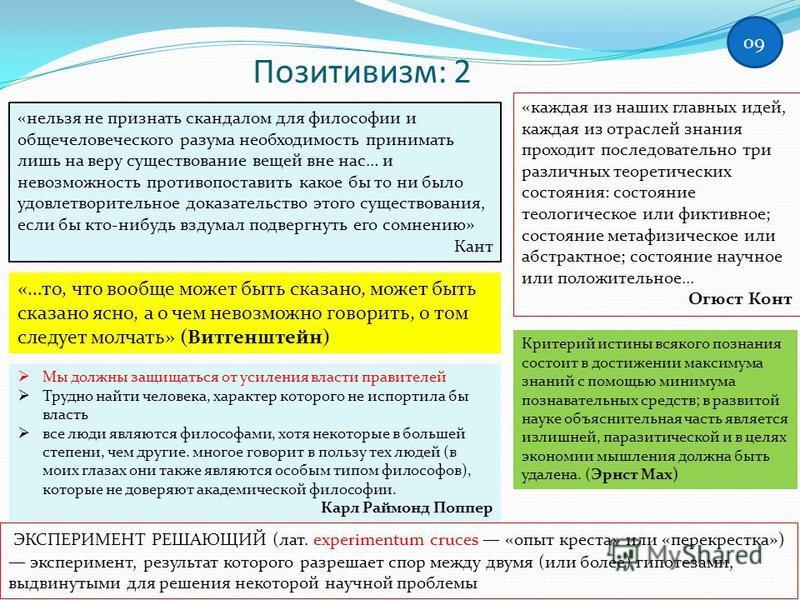 позитивизм и неопозитивизм. к. поппер