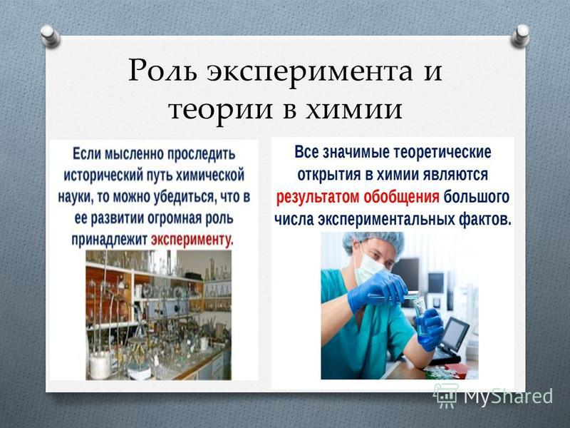 Роль теории в химии доклад 6026