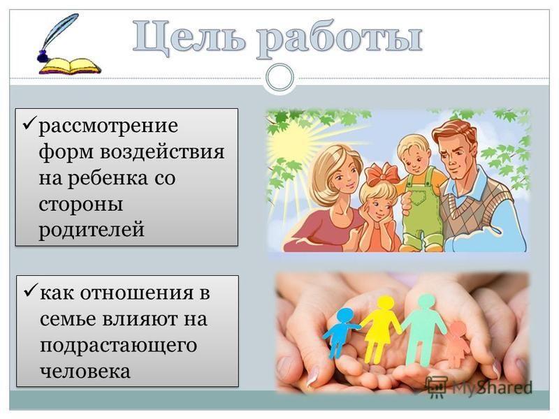рассмотрение форм воздействия на ребенка со стороны родителей как отношения в семье влияют на подрастающего человека