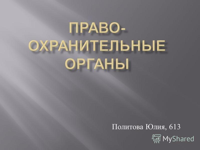 Политова Юлия, 613