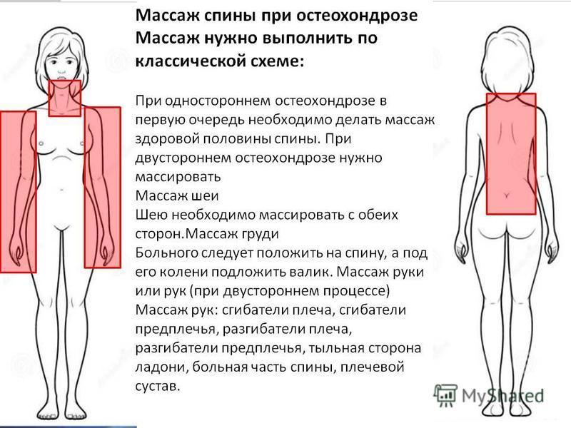 Как сделать массаж от остеохондроза