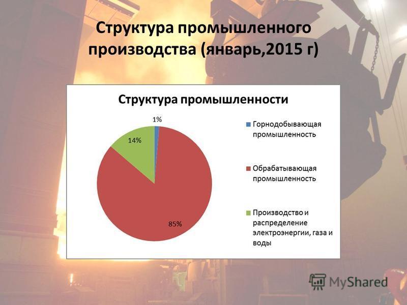 Структура промышленного производства (январь,2015 г)