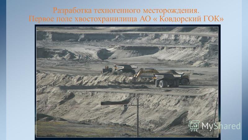 Разработка техногенного месторождения. Первое поле хвостохранилища АО « Ковдорский ГОК»
