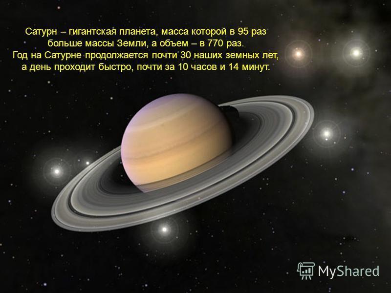 Это шестая по счету от Солнца планета