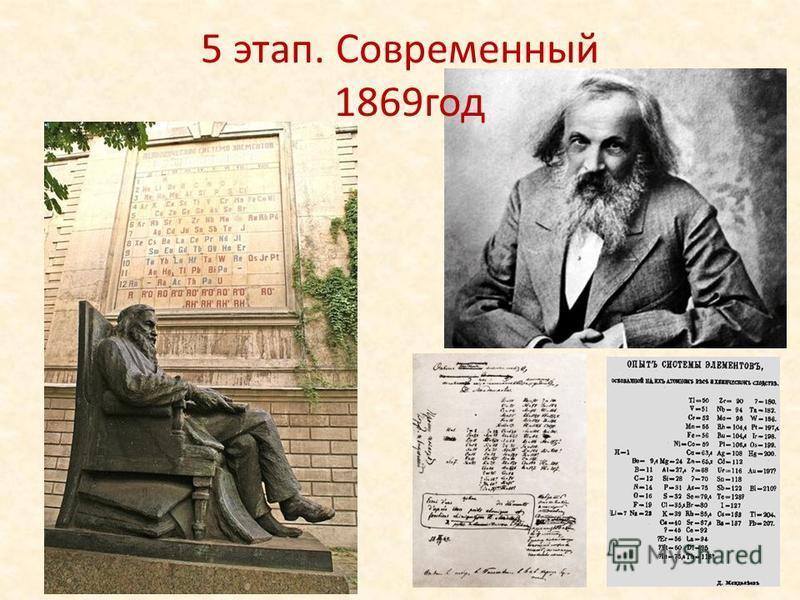 5 этап. Современный 1869 год
