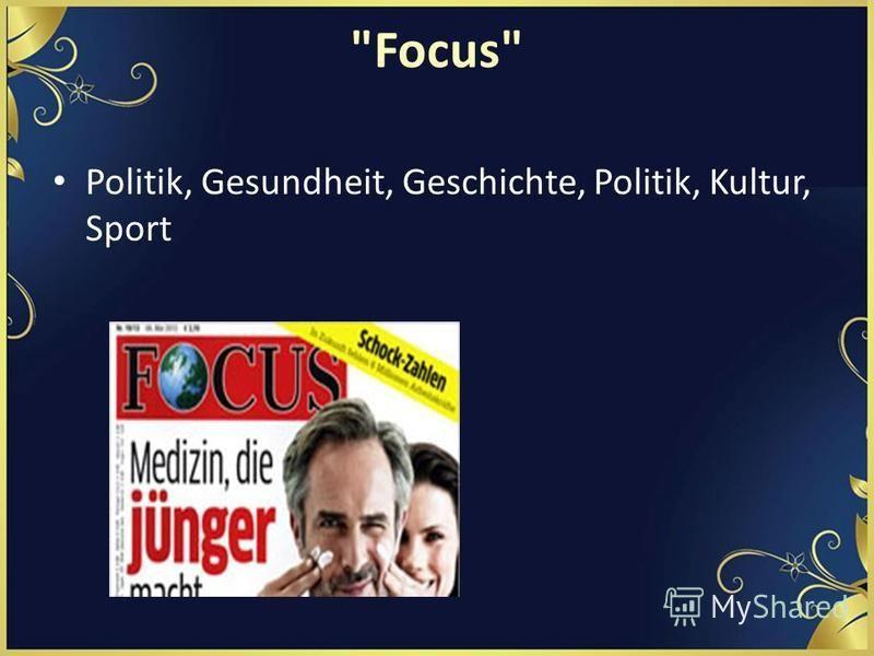 Focus Politik, Gesundheit, Geschichte, Politik, Kultur, Sport