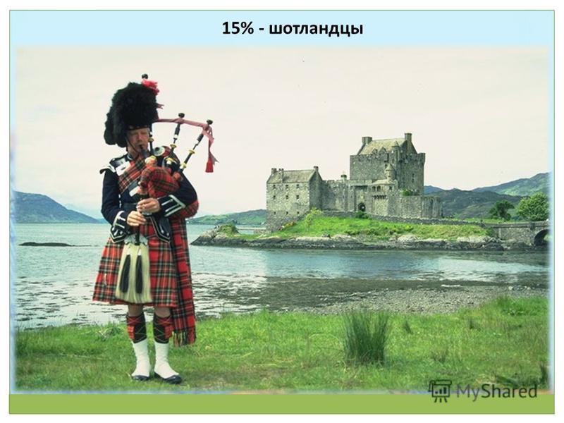 15% - шотландцы
