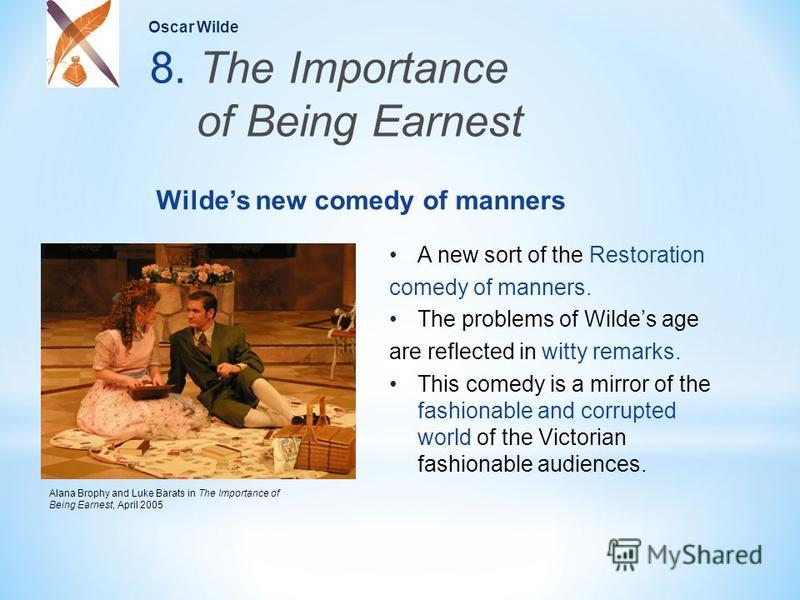 part 1 a comedy of manners the importance of being earnest 2 essay New topic essay on the importance of being earnest importance of being ernest the original wilde's the importance of being earnest as a comedy of manners.