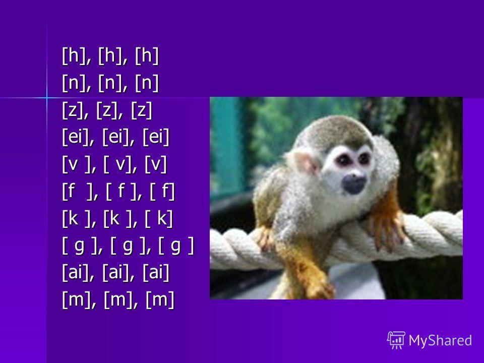 [h], [h], [h] [n], [n], [n] [z], [z], [z] [ei], [ei], [ei] [v ], [ v], [v] [f ], [ f ], [ f] [k ], [k ], [ k] [ g ], [ g ], [ g ] [ai], [ai], [ai] [m], [m], [m]