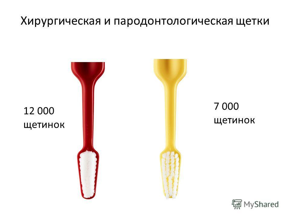 Хирургическая и пародонтологическая щетки 12 000 щетинок 7 000 щетинок