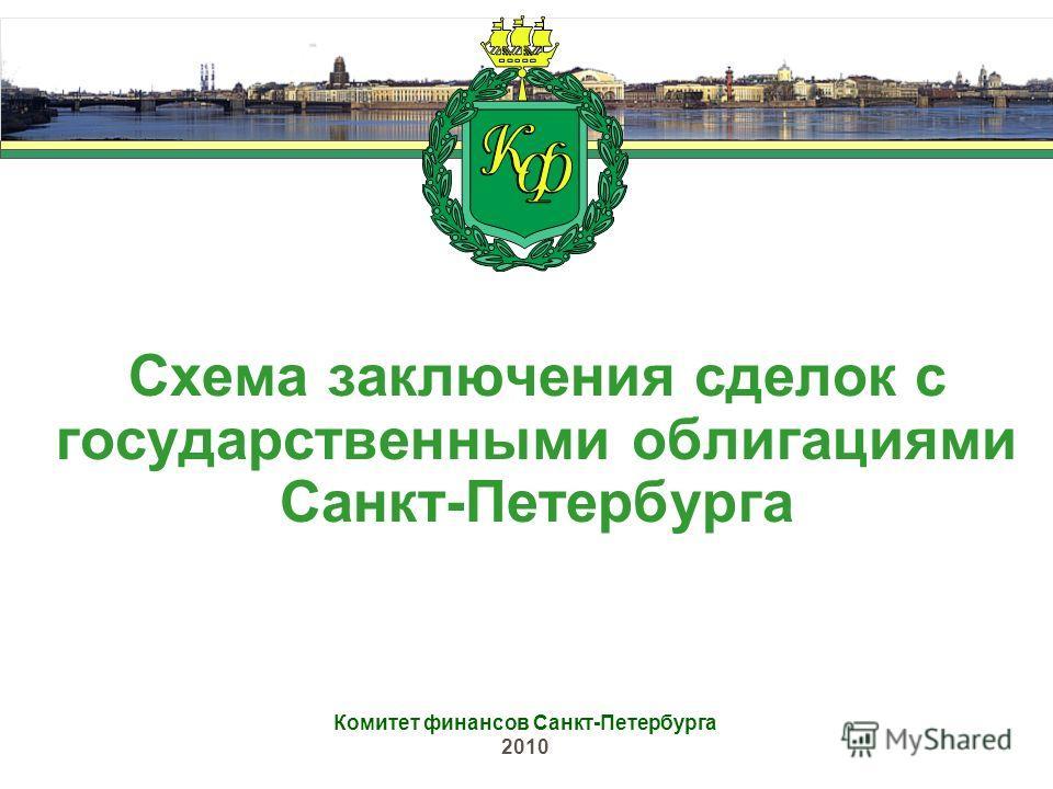 Схема заключения сделок с государственными облигациями Санкт-Петербурга Комитет финансов Санкт-Петербурга 2010