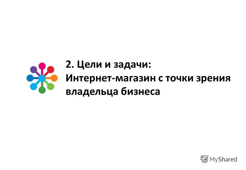 2. Цели и задачи: Интернет-магазин с точки зрения владельца бизнеса