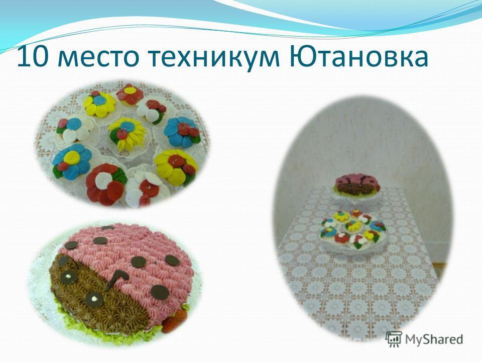 10 место техникум Ютановка