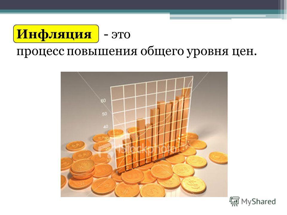 Инфляция - это процесс повышения общего уровня цен.