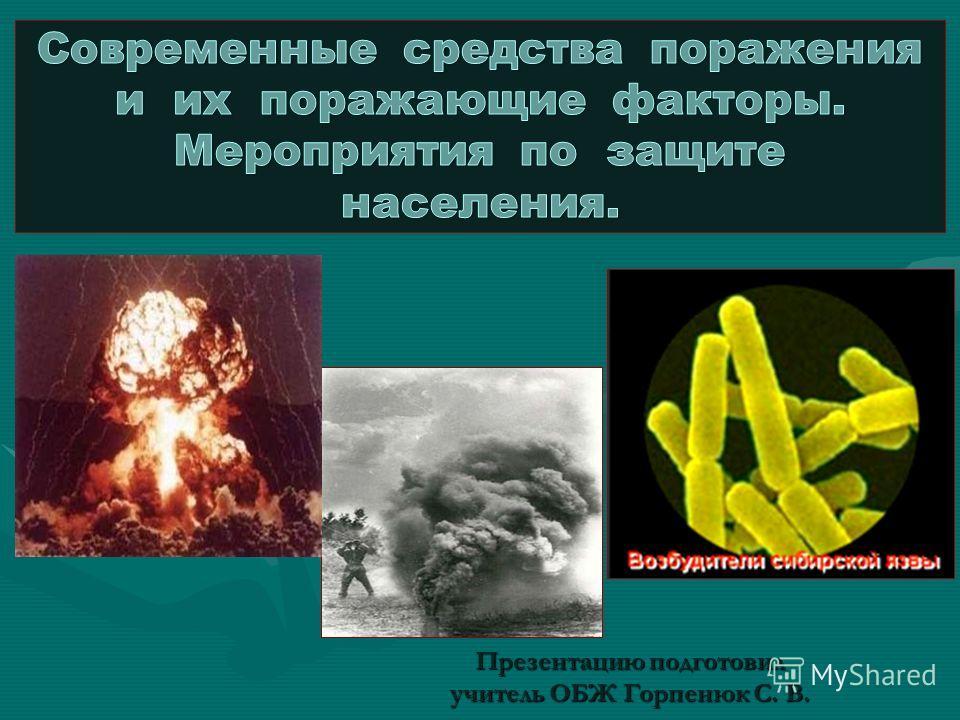 Презентацию подготовил учитель ОБЖ Горпенюк С. В.