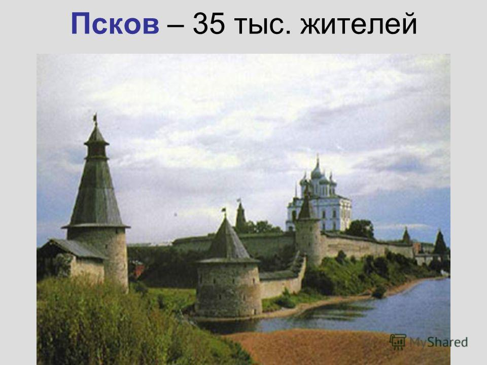 Псков – 35 тыс. жителей