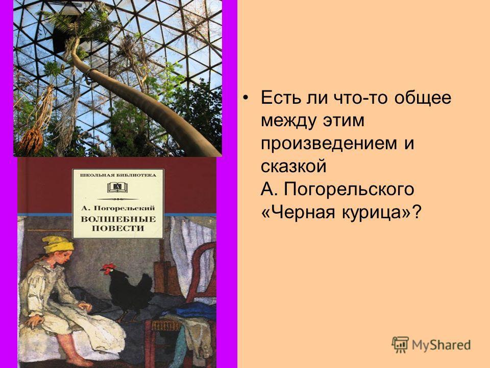 Есть ли что-то общее между этим произведением и сказкой А. Погорельского «Черная курица»?