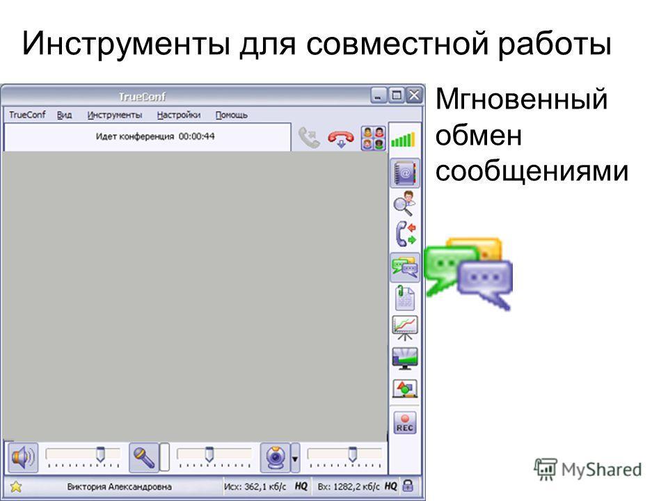 Инструменты для совместной работы Мгновенный обмен сообщениями