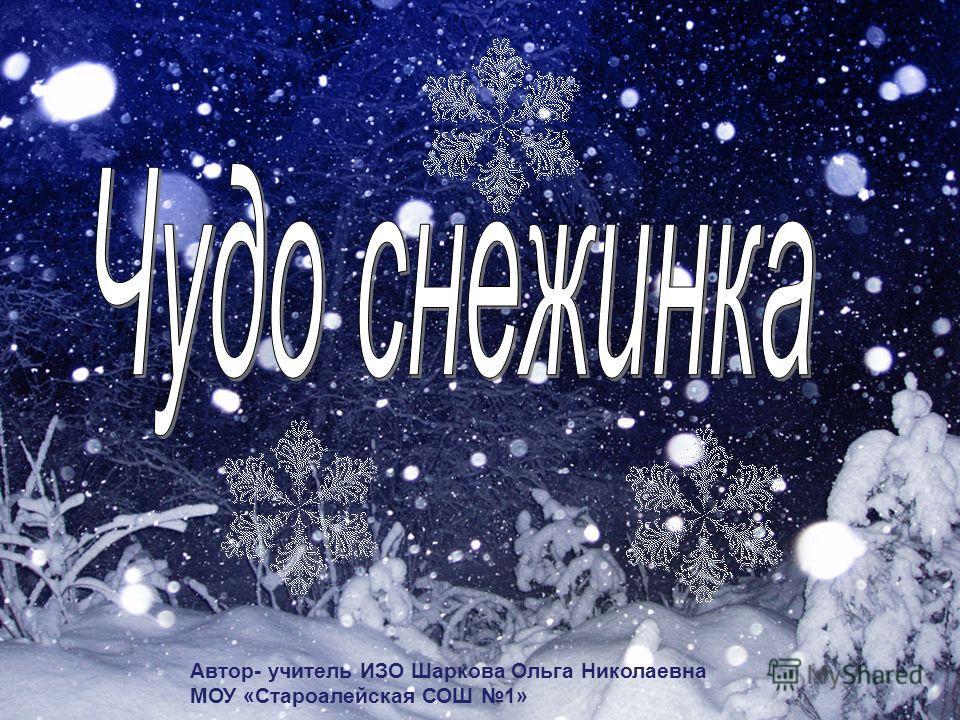 Автор- учитель ИЗО Шаркова Ольга Николаевна МОУ «Староалейская СОШ 1»