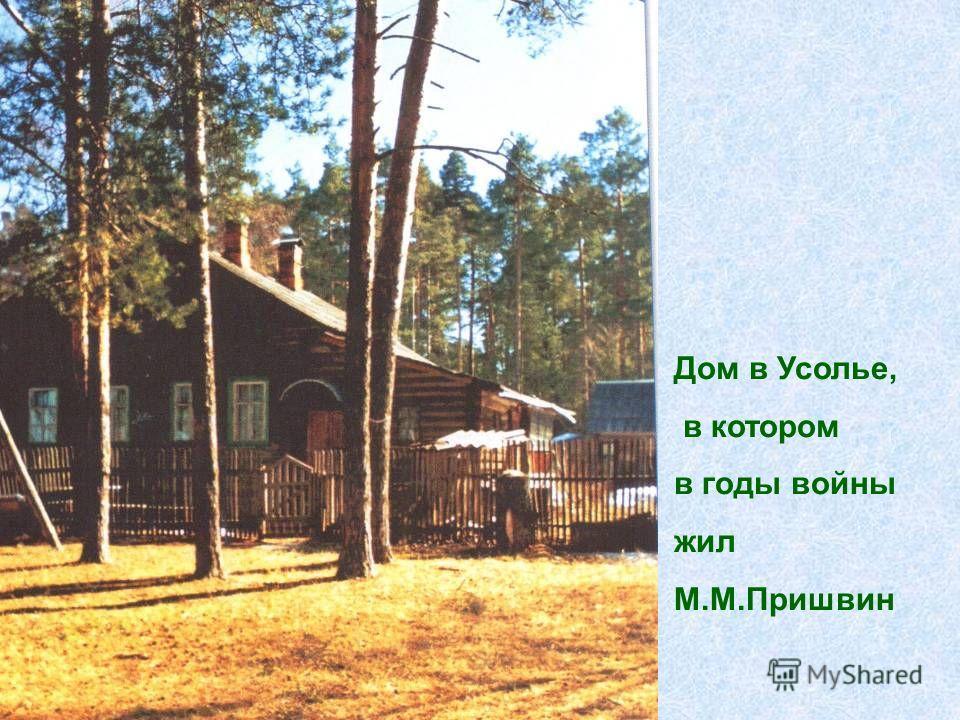 Дом в Усолье, в котором в годы войны жил М.М.Пришвин