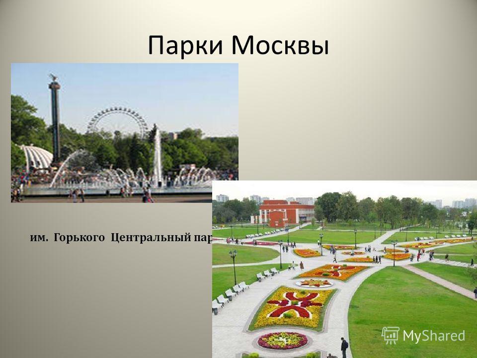 Парки Москвы им. Горького Центральный парк