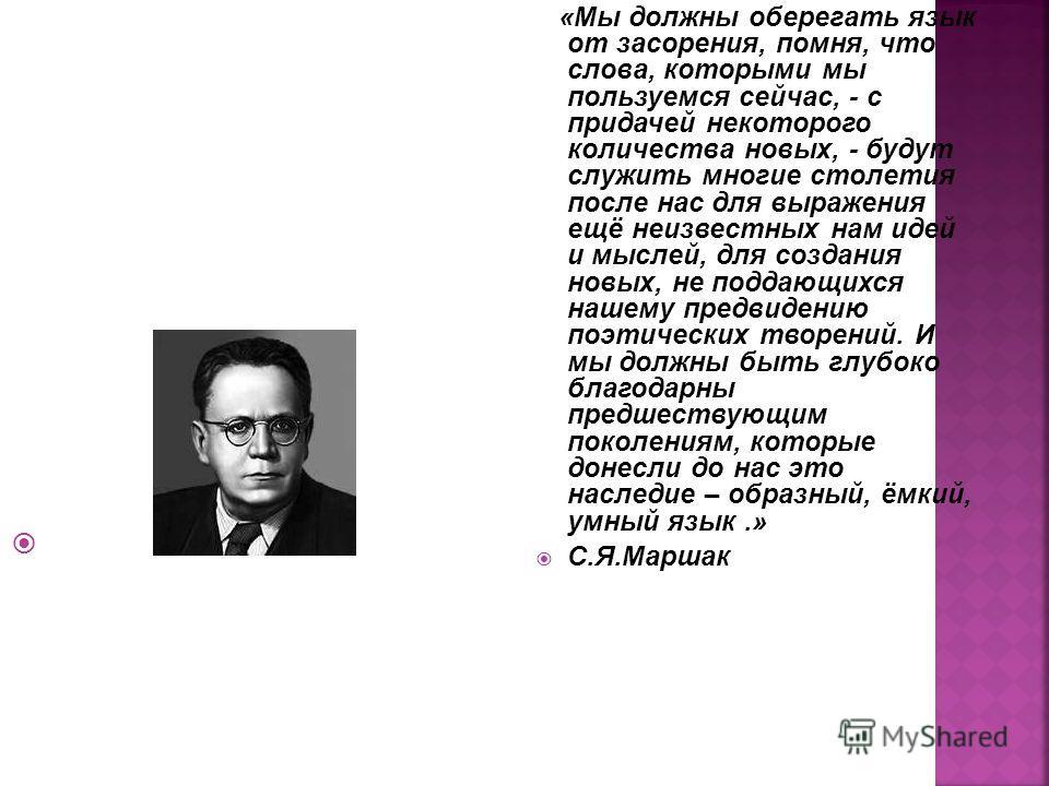 «Русский язык чрезвычайно богат, гибок и живописен для выражения простых, естественных понятий.» В.Г.Белинский
