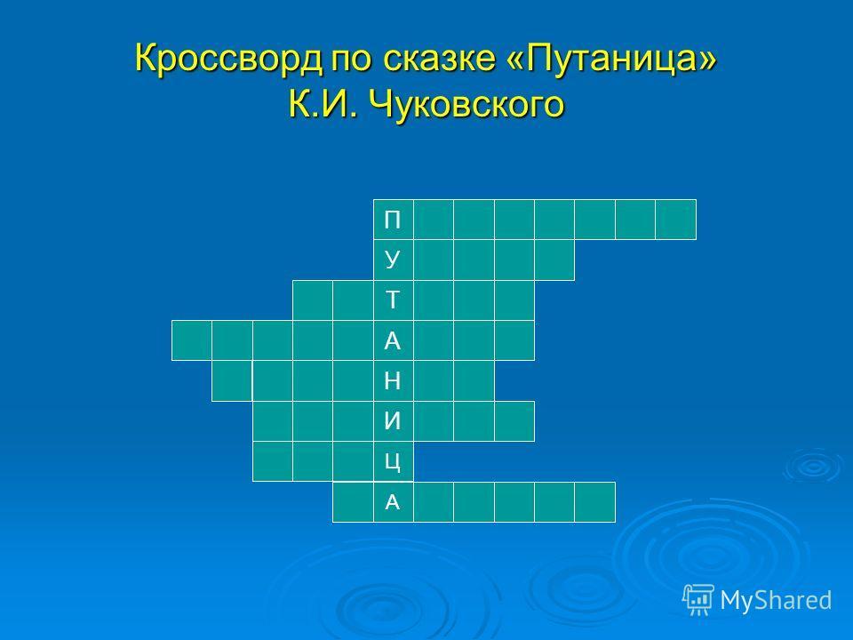 Н Т И А У П А Ц Кроссворд по сказке «Путаница» К.И. Чуковского