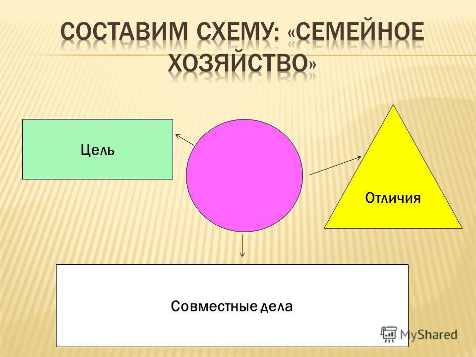 Цель Отличия Совместные дела