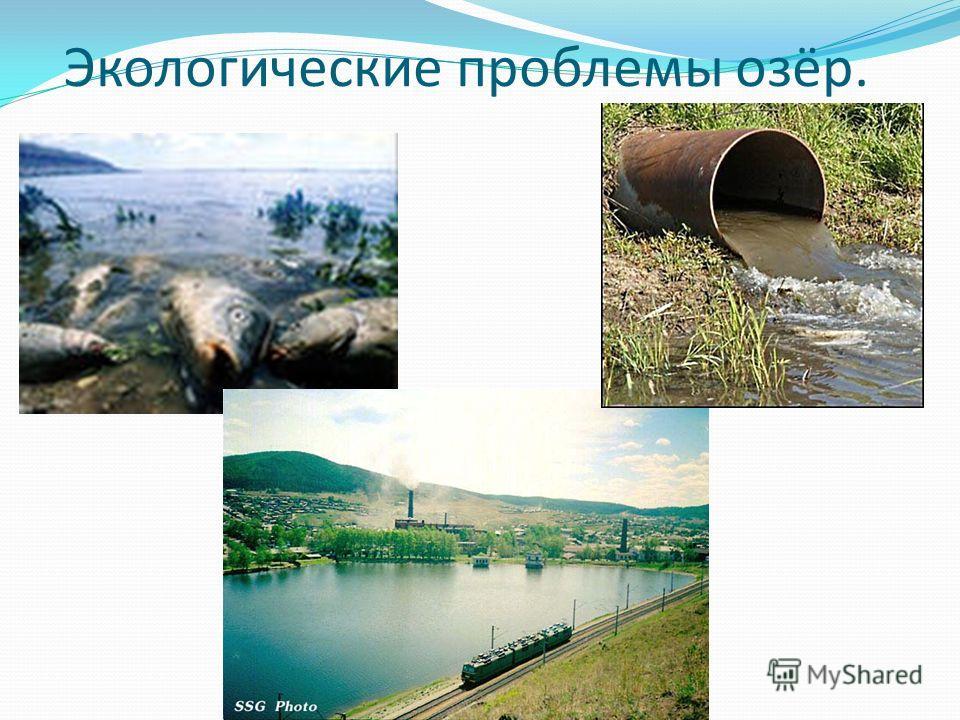 Экологические проблемы озёр.