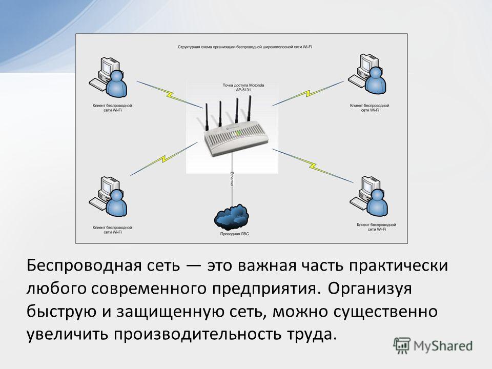Беспроводная сеть это важная часть практически любого современного предприятия. Организуя быструю и защищенную сеть, можно существенно увеличить производительность труда.