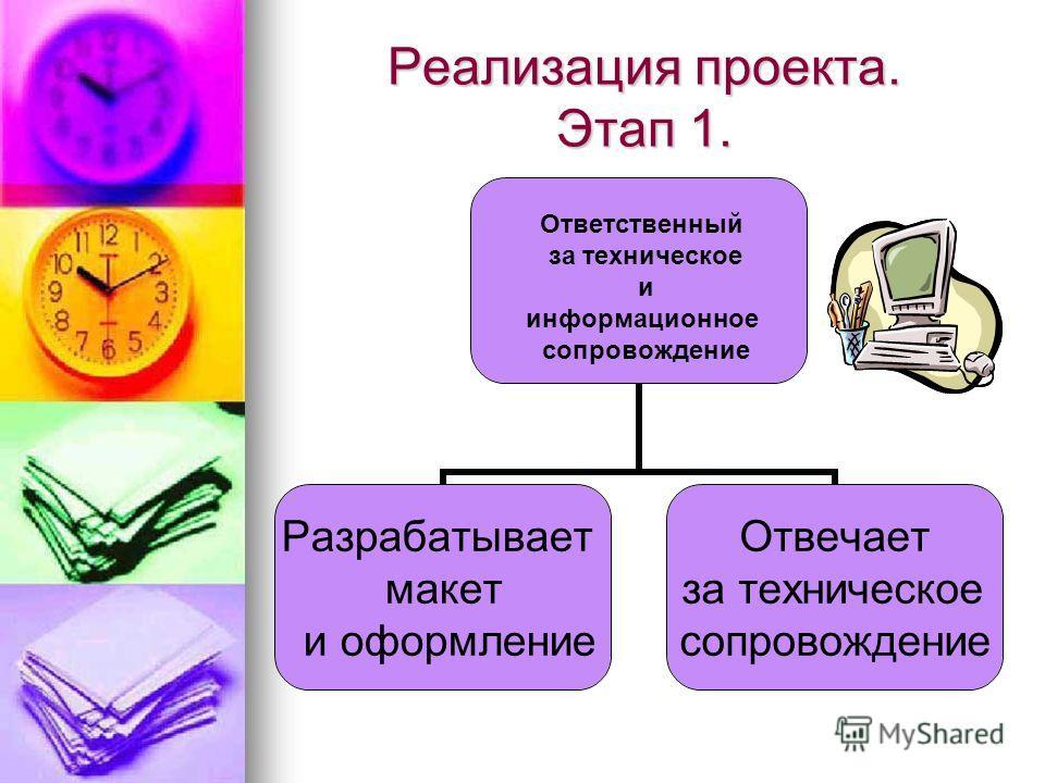 Реализация проекта. Этап 1. Ответственный за техническое и информационное сопровождение