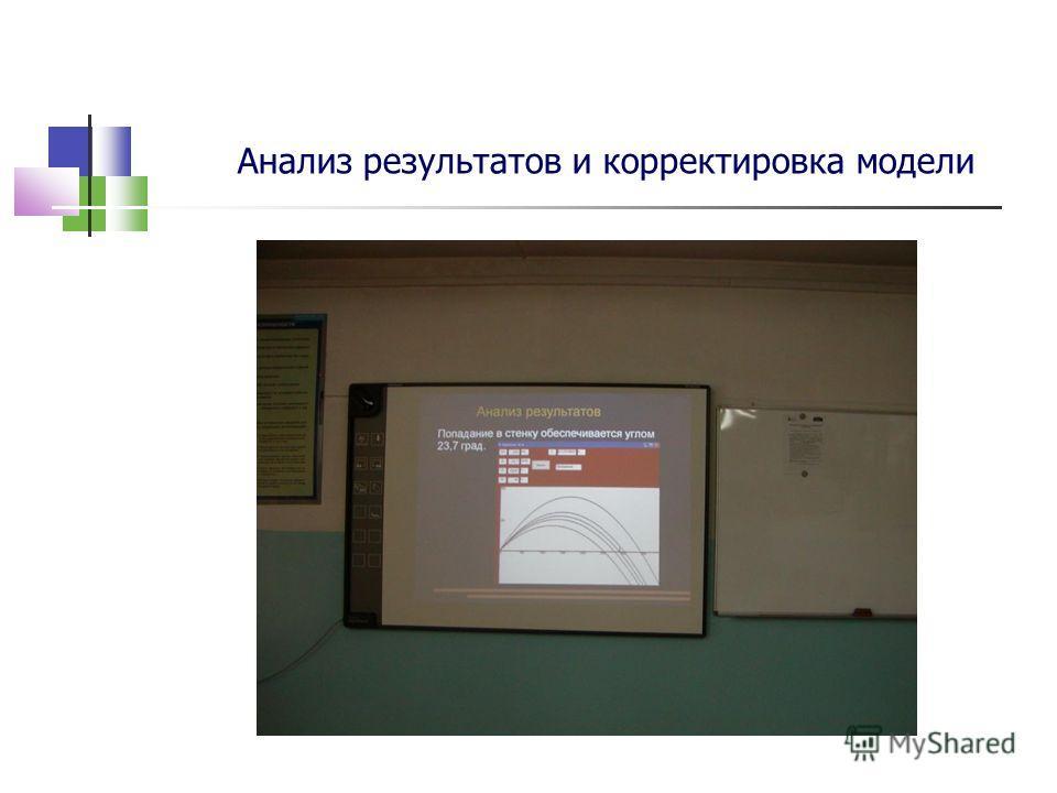 Анализ результатов и корректировка модели